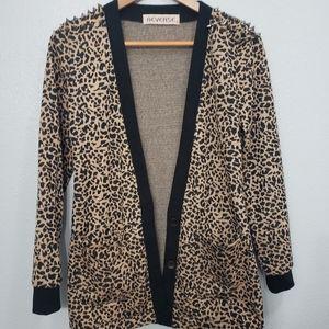 Reverse [Urban outfitters] Cheetah print cardigan
